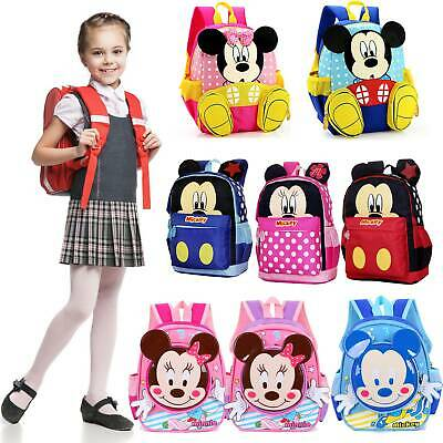 Minnie Backpack For Kids Boys Girls Toddlers Character Rucksack School Lunch Bag
