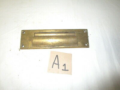 Vintage heavy solid brass door mail slot
