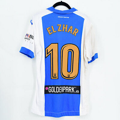 2017-18 Leganés Home Shirt #10 EL ZHAR Match Worn Jersey
