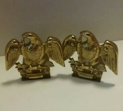 Set of two Vintage Baldwin Brass Eagle Bookends Forget In America 5.25""