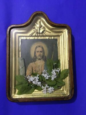 Antique Russian Orthodox icon with box