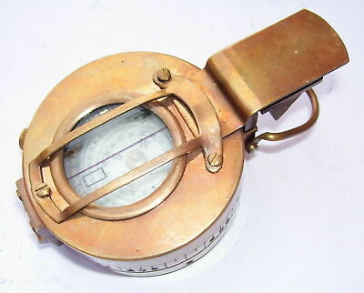 Vintage Brass Military Compass Engineering Compass Prismatic Marine Compass Gift