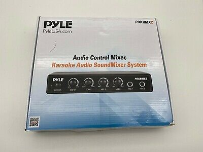 Pyle PDKRMX2 Audio Control Mixer,  Karaoke Audio Sound Mixer System