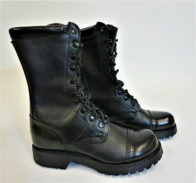 Cove Corcoran 1525 Leather Captoe Military Tactical Jump Boot Black Size 7.5 M