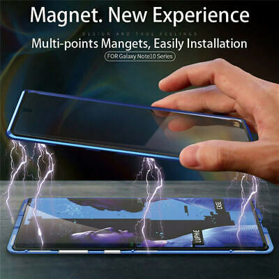 360° Magnetic Case For Samsung Note 10+ Plus S10e S9 Double Sided Tempered Glass