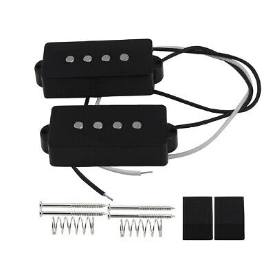 NEW PB Bass Pickup Set Alnico 5 Pickups Open Style for 4-String Precision Bass