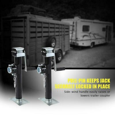 Pair Trailer Jack 2205Lb Yacht Caravan Jack Jockey Wheel Metal Stand Heavy Duty