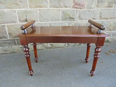 Antique Mahogany Hall Bench Stool