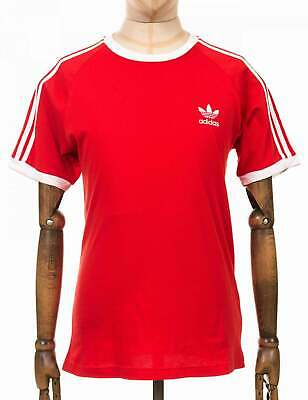 ADIDAS ORIGINALS 3 Stripes Long Sleeved T Shirt in Lush Red