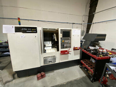 DMG CTX-310 Eco CNC Turning Center 400 POWER ON HRS Live Tooling *Mori* *Haas*