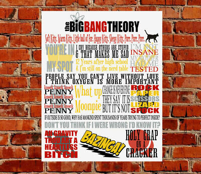 The Big Bang Theory TV Show Quotes METAL SIGN Birthday Gift Present Geek