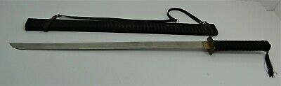 Old Functional Reproduction of Japanese Sword w/Cloth Covered Scabbard
