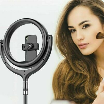 LED Studio Camera Ring Light with USB Cable Dimmable Tripod Stand Selfie Light