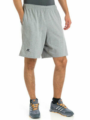 Russell Athletic Men's Basic Cotton Jersey Athletic Pocket Shorts 25843m0
