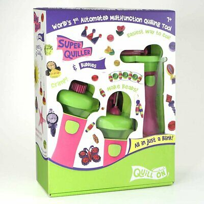 Pink Super Quiller & Buddies - Ultimate electric quilling tool crimper bead set