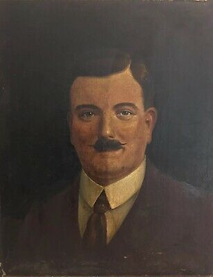 Antique, Early 20th C Oil Painting Portrait Of A Gentleman For Restoration