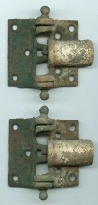 2 Antique Cast Iron Barn Gate Door Spring Hinges Eastlake Ornate - Sep 11,1888