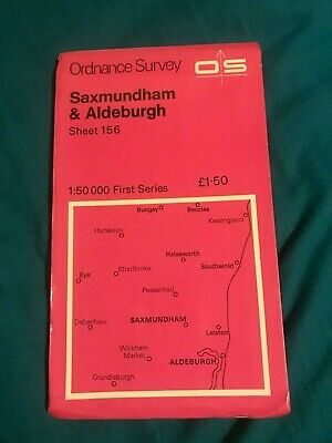 Ordnance Survey Map Of Saxmundham & Aldeburgh Sheet 156.