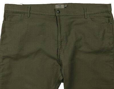 New Mens Marks & Spencer Brown Regular Fit Moleskin Trousers Waist 48 L 35 31£35