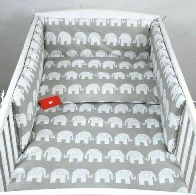 COT BED - 3 PIECES NURSERY  -140X70cm- BABY BEDDING-BUMPER-PILLOW-QUILT COVERS
