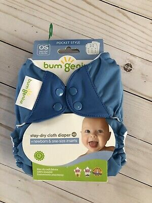 New in Package! Bumgenius 4.0 Pocket Diaper Snap Closing Blue