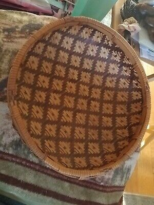 Vintage/Antique Native American Indian Hand Crafted Woven Basket early 1900's