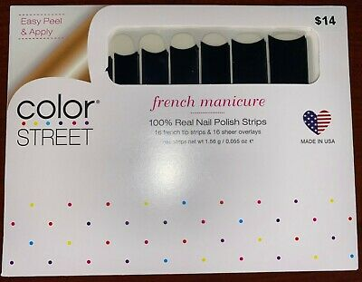 Color Street: Color Street Nail Polish Strips French Manicure. Gotham Midnight.