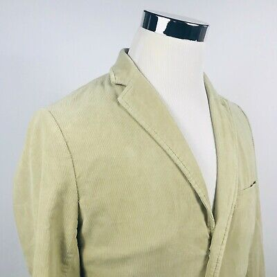 J Crew Mens Small Vintage Cord Cotton Beige Corduroy Sport Coat Three  Button