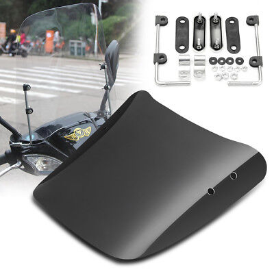 Clear-Motorcycle-Windscreen-Wind-Deflectors-Scratch-Resistant-Scooter-Windshield