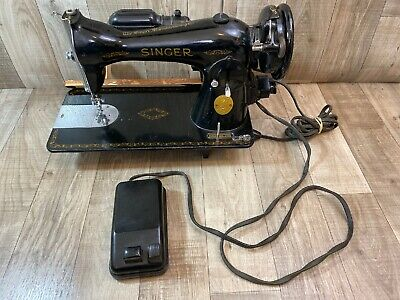 1947 Singer Model Sewing Machine AH132861 USA AS IS UNTESTED