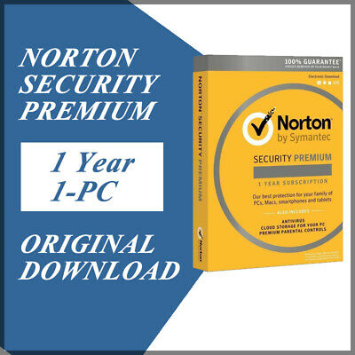 Symantec Norton Security Premium 2020 Antivirus Windows Version 1 Year / 1 PC