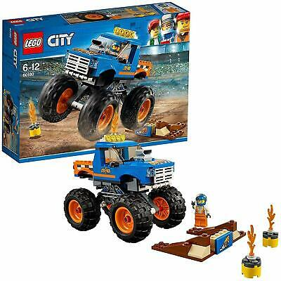 LEGO 60180 City Great Vehicles Monster Truck Toy with Driver and Stunt Show