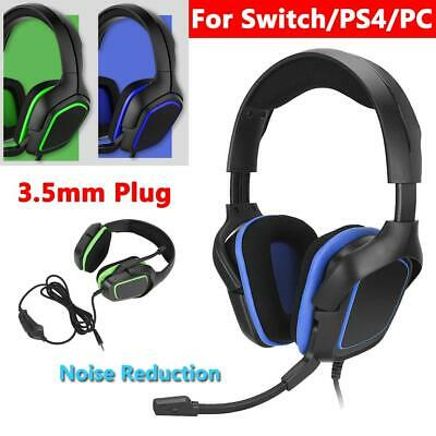 3.5mm Plug Gaming Headset Headphone Earphone with Microphone for Switch PS4 PC