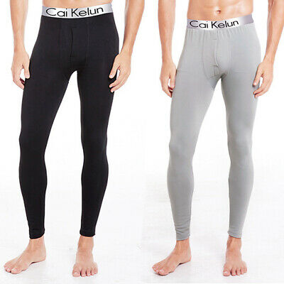 Mens Thermal Stretch Long Johns Soft Winter Trousers Underwear Pants Leggings