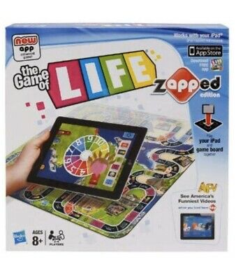 The Game of Life-Zapped- Hasbro - 2012 iPad Required not supplied BNIB