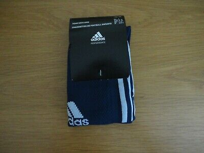 Adidas Junior Football Team Socks Navy Blue Size 13 1 2 3 4 BNWT FREEPOST