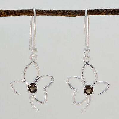 appealing Smoky Quartz 925 Sterling Silver Brown genuine jewelry CA gift