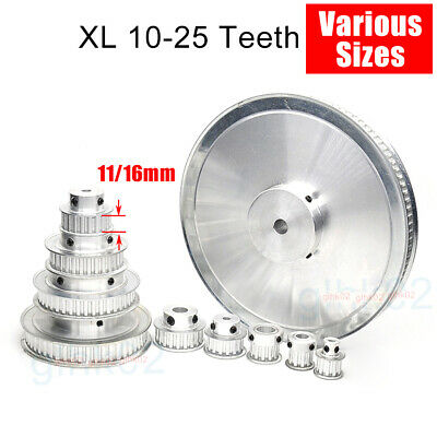 XL Timing Belt Pulley 3-20mm Bore 10-25 Teeth 11mm Wide Aluminum Synchronous 3D
