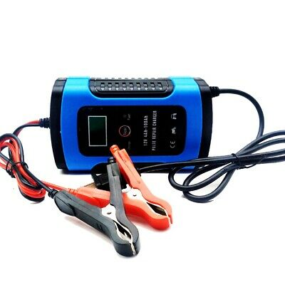 Car Battery Charger 12V 6A LCD Intelligent Automobile Motorcycle Pulse