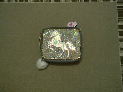 Nwt Justice Girls Gold Unicorn Flip Sequin Lunch Tote