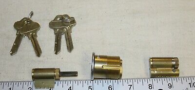 3 x Schlage locking cylinders and 4 x C123 Everest keys for 1 price