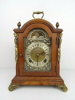 John Smit Vintage Antique Mantel Shelf 8 day Clock (Warmink Hermle Junghans era)
