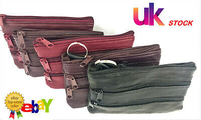 New Women Ladies Men Genuine Leather Small Coin Card KeyRingWallet Pouch Purse*4