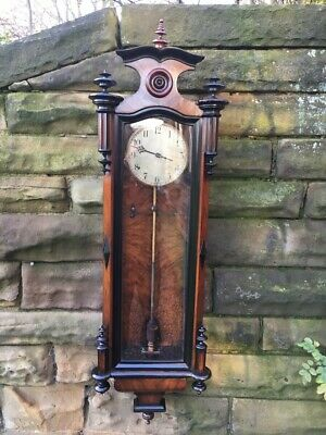 Antique Electric Vienna Regulator Clock