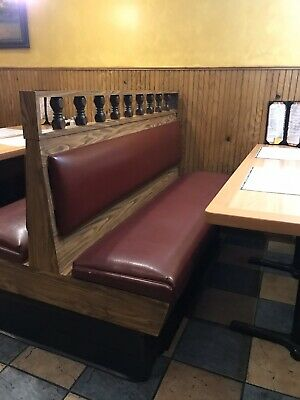 Lot Of 20 Restaurant Booths 23 Tables 32 Chairs USED Burgundy