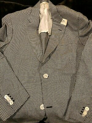 NWT Rare BRIONI Wool and Silk Sportcoat 50R 40R new 2 btn unlined