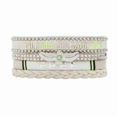 Bracelet Multi-Liens *Hipanema* Collection Whitefree  - Taille M = 18 Cm - Neuf