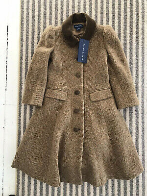 Stunning BNWT Ralph Lauren Girls Tweed Princess Coat. Size 3 Years Rep £449