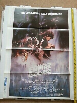 Star Wars EMPIRE STRIKES BACK JAPANESE POSTER backed with US Navy Planes -FOLDED