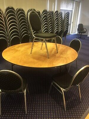 6ft (1800mm) Round Banqueting Table - Round Table - Wedding Hall Table, Wooden